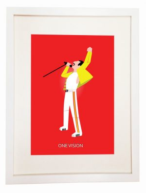 Freddie Mercury - You Can Include White Wood Frame - Queen Live At Wembley 1986 London UK