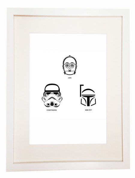 Star Wars The Empire Strikes Back - You Can Include White Wood Frame - poster wall picture - Return of the Jedi - Attack of the Clones