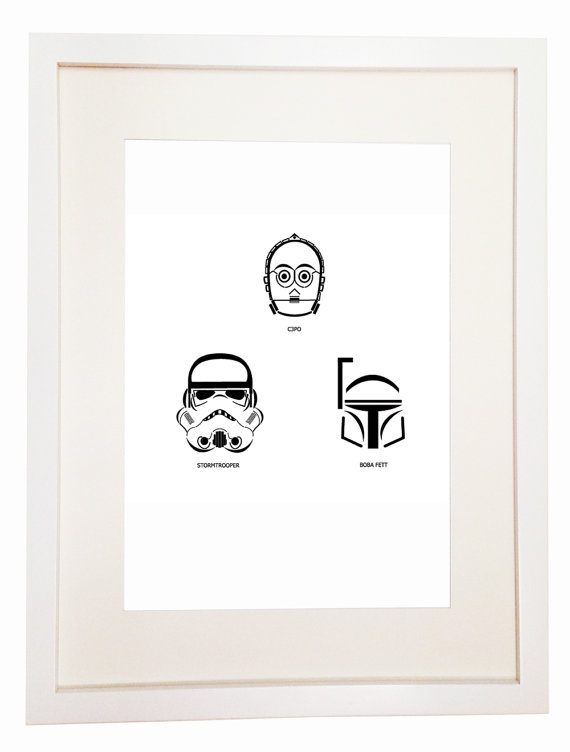 Star Wars The Empire Strikes Back – You Can Include White Wood Frame ...