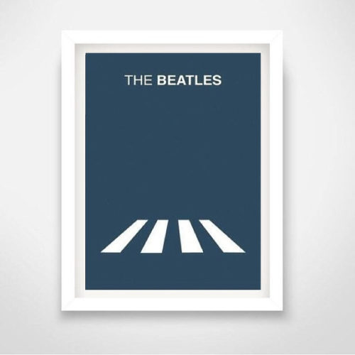The Beatles Abbey Road Zebra 1969 Life minimal minimalistic poster decor picture UK