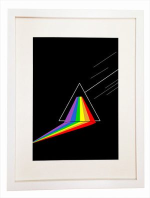 Dark side of the Moon - You Can Include White Wood Frame - poster wall picture 1973 - pink floyd another perspective