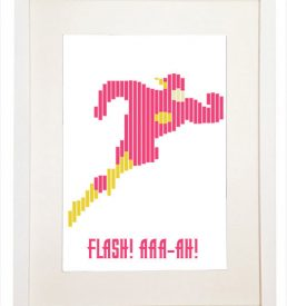 Flash! AAA-AH! - Adventures of Flash Gordon - Decorative Wall Picture