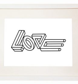 Love minimal poster home decor