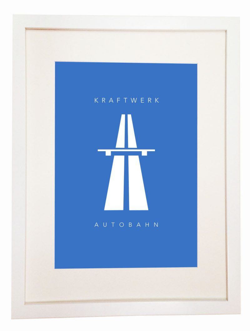 Kraftwerk - Autobahn - poster wall picture German electronic music band minimalistic and strictly electronic