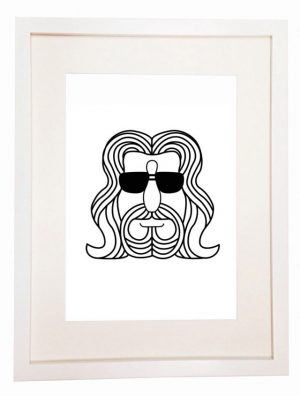 The Dude - The Big Lebowski - Film Movie Poster Minimal Minimalistic Vector