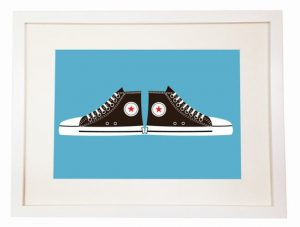 Converse All Star - You Can Include White Wood Frame - Chuck Taylor - Cons - canvas and rubber shoes