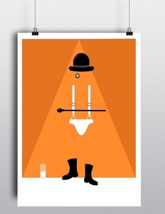 A Clockwork Orange - Movie Poster - You Can Include White Wood Frame - Ultraviolent Britain Sci-Fi