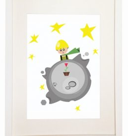 The Adventures of The Little Prince - You Can Include White Wood Frame - Kids Room story